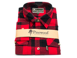 Flanellen Hemd Pinewood Texas Rood/Zwart