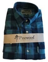 Flanellen Hemd Pinewood Texas Blauwgroen/Zwart