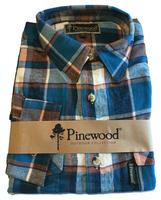 Flanellen Hemd Pinewood Texas Blauw/Wit met rood
