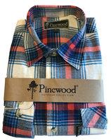 Flanellen Hemd Pinewood Texas Wit/Blauw met rood