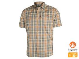 Globetrotter Shirt SS Twill Plaid