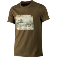 Odin Moose & Dog T-shirt Willow Green