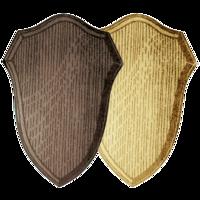 Gesneden schild voor trofee ree