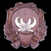 Gesneden schild voor trofee everzwijn